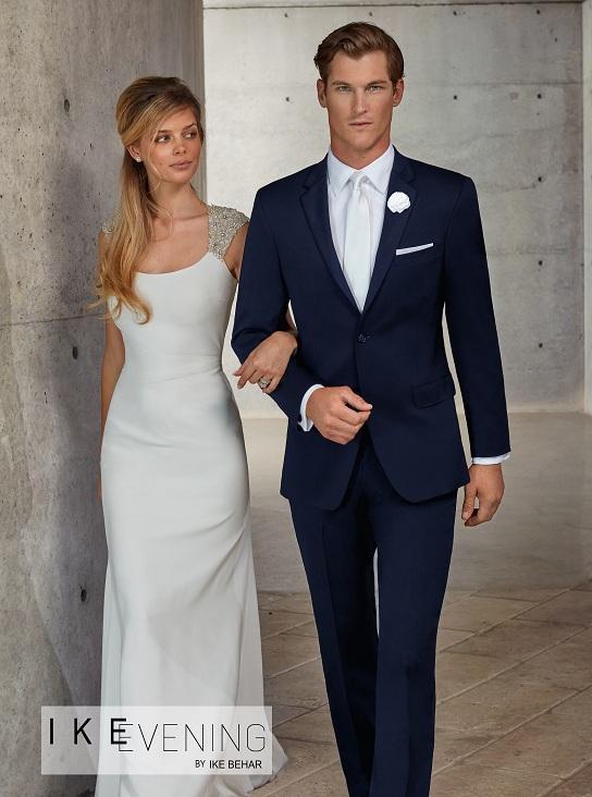 Tuxedo.ca - IKE BEHAR Modern Blue Suit
