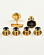 Black and Gold Button Studs & Cuff Links