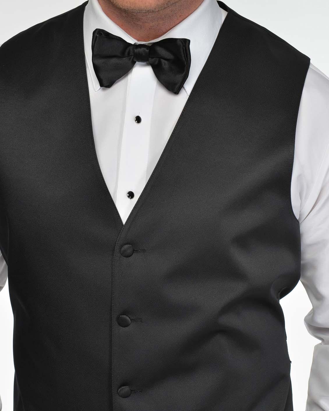 Tuxedo.ca - Black Satin Vest