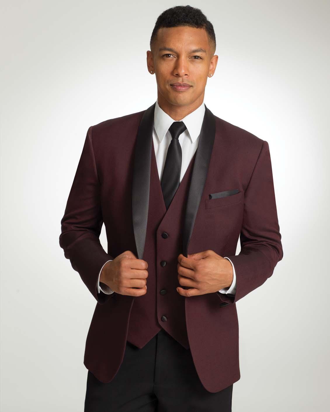 Ike Behar Camden Burgundy Tuxedo