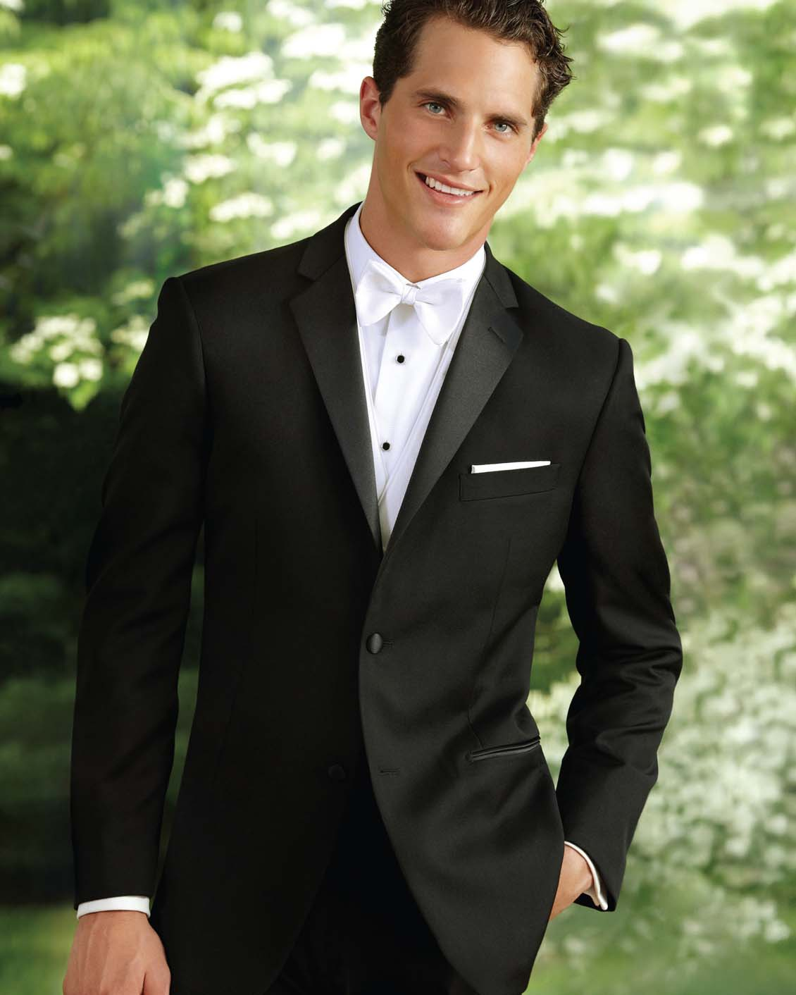 Tuxedo.ca - PERRY ELLIS Black Tuxedo
