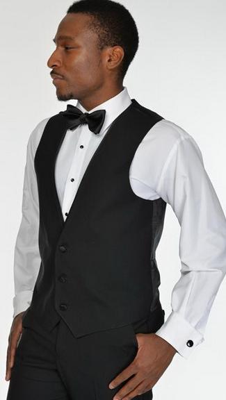 Tuxedo.ca - Black Fabric Vest