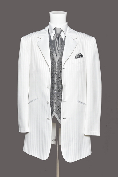 Tuxedo.ca - FUBU The Collection White Three Quarter Lenght