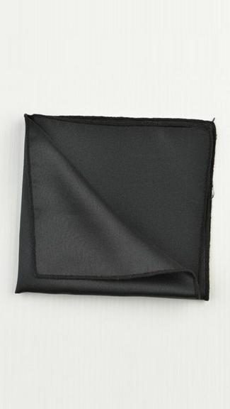 Tuxedo.ca - Black Pocket Square