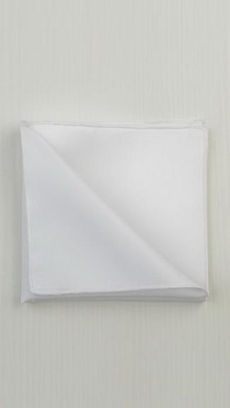 Tuxedo.ca - White Pocket Square
