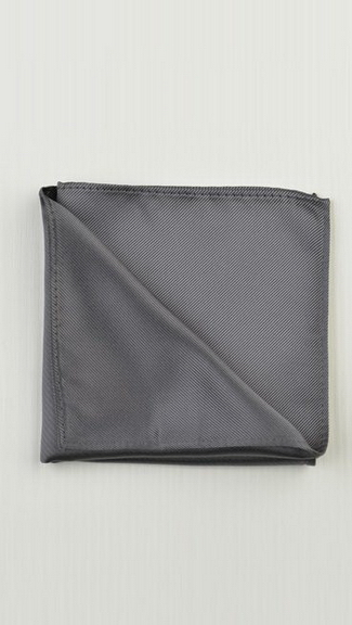 Tuxedo.ca - Charcoal Pocket Square