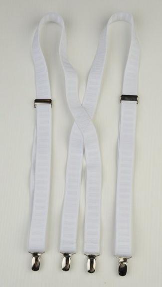 Tuxedo.ca - Suspenders  White