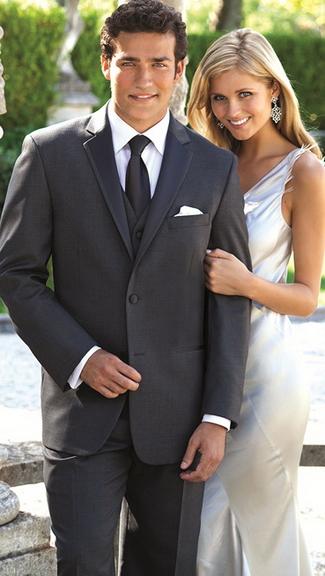 Tuxedo.ca - PERRY ELLIS Grey Tuxedo