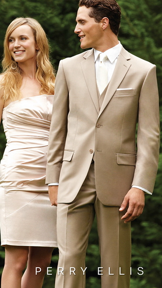 Tuxedo.ca - PERRY ELLIS EVENING TAN SUIT