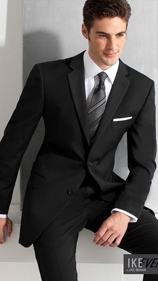 Tuxedo.ca - PERRY ELLIS ELEGANCE BLACK SUIT