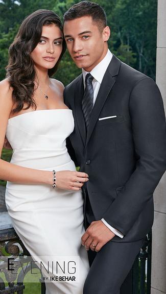 Tuxedo.ca - IKE BEHAR Charcoal Suit