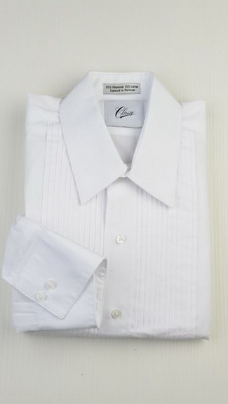 Tuxedo.ca - Cotton Lay Down Collar Shirt